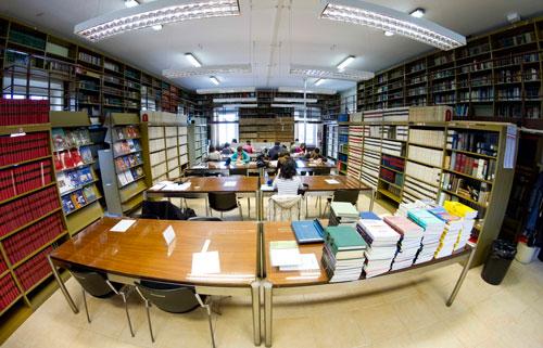 Fotografia della sala lettura